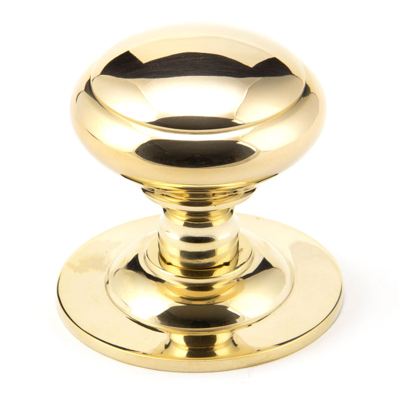Centre Door Knob - Polished Brass Finish