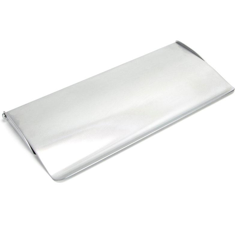 Satin Chrome Internal Letter Plate Cover