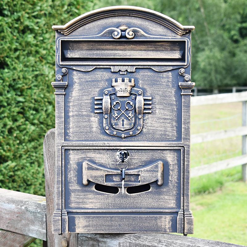 Home Accessories Belgravia Wall Mounted Post Box - Bronze Finish