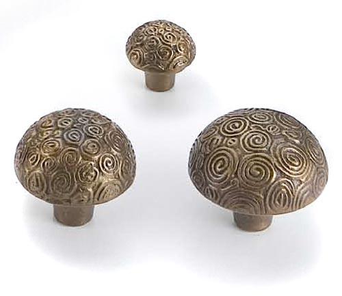 Antique Brass Nautilus Knob Cast In Style Bronze Cabinet