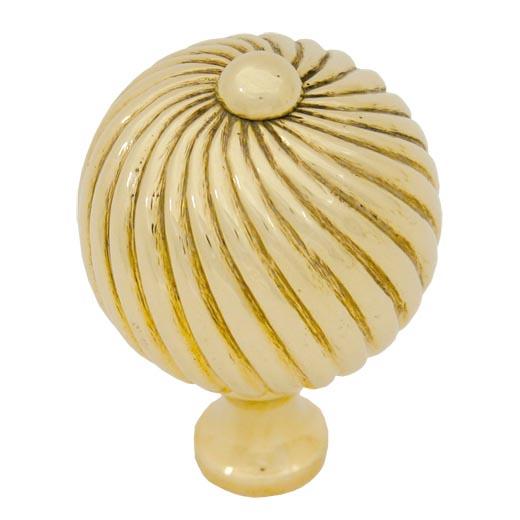 Brass Spiral Cabinet Knob