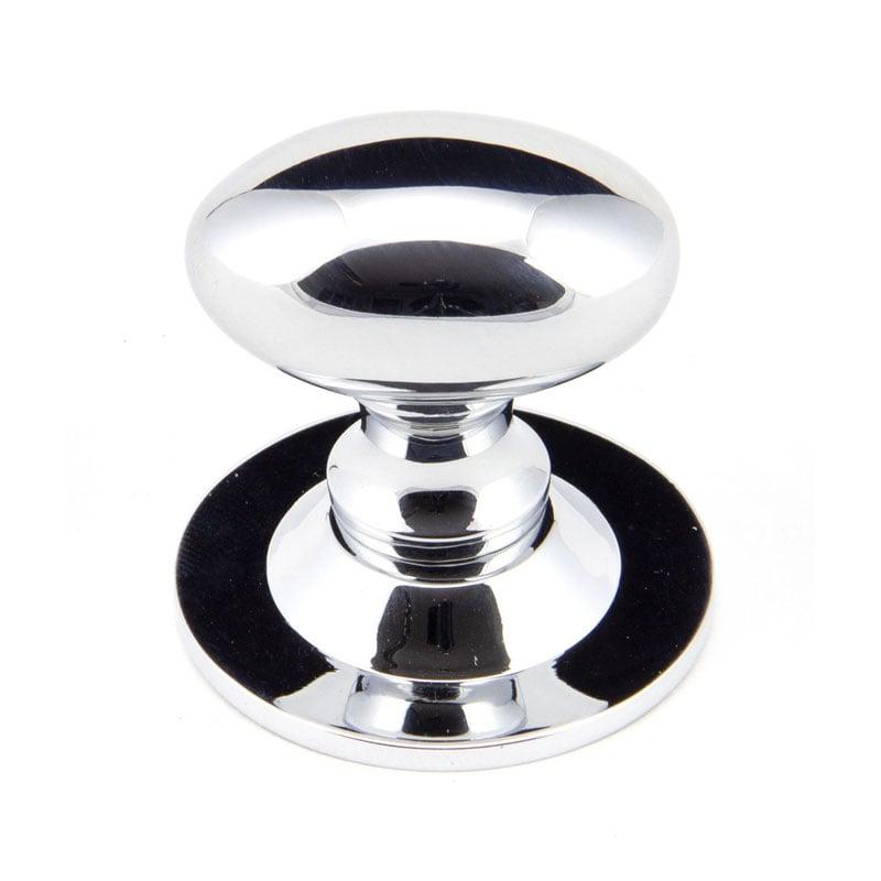 Polished Chrome Oval Cabinet Knob