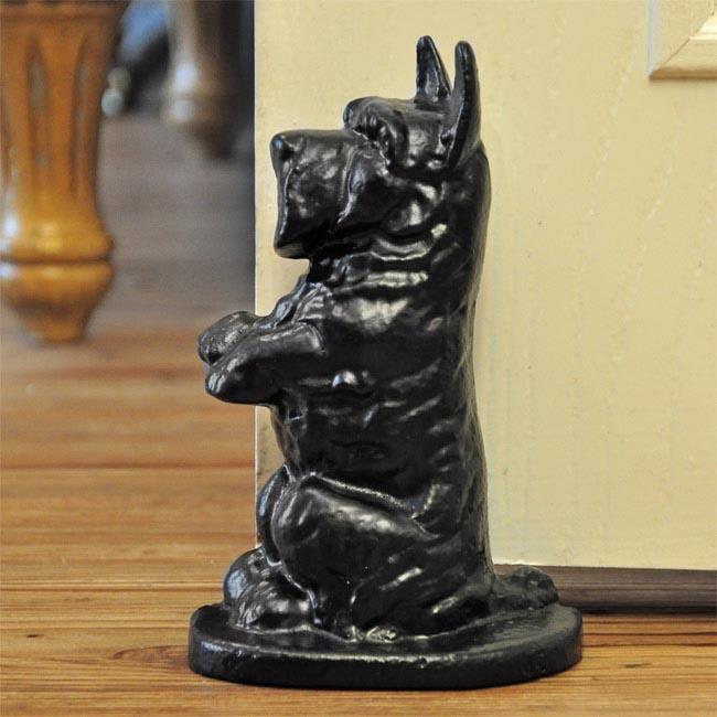 scottie dog door stop cast iron door stops and wedges. Black Bedroom Furniture Sets. Home Design Ideas