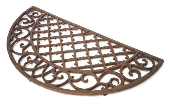 Semi Circle Scroll Door Mat Cast Iron Doormats Cast Iron