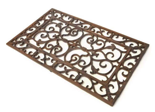 Rectangular Scroll Doormat Cast Iron Doormats Cast Iron