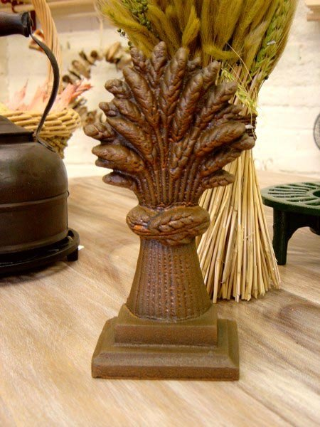 Wheat Sheaf Door Stop Cast Iron Door Stops And Wedges
