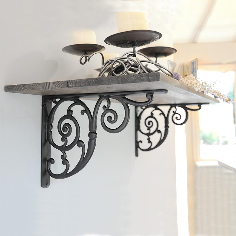swirl cast iron bracket cast iron brackets hanging basket brackets