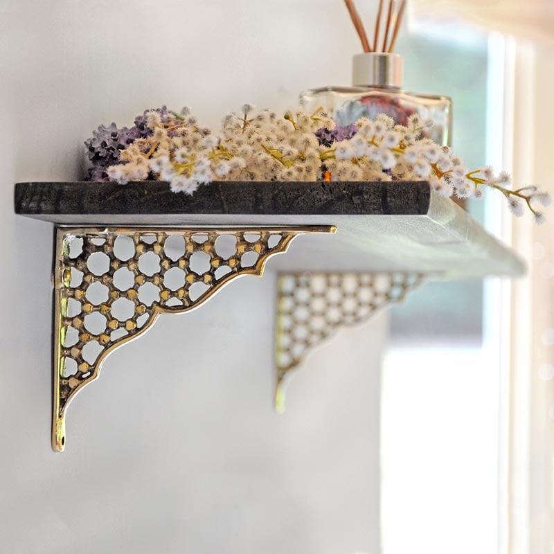 Honeycomb Brass Bracket