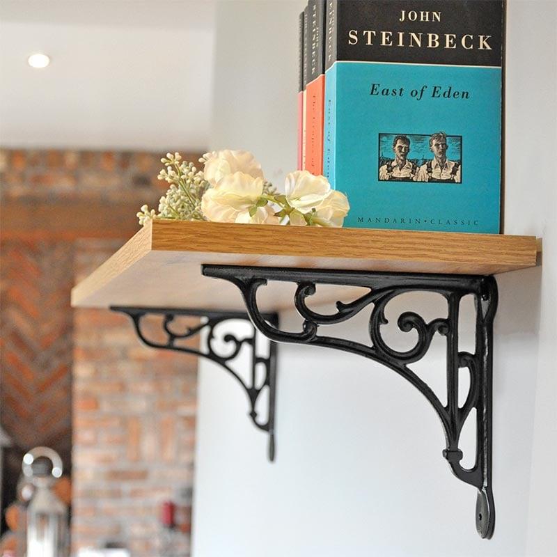 oblique cast iron shelf bracket