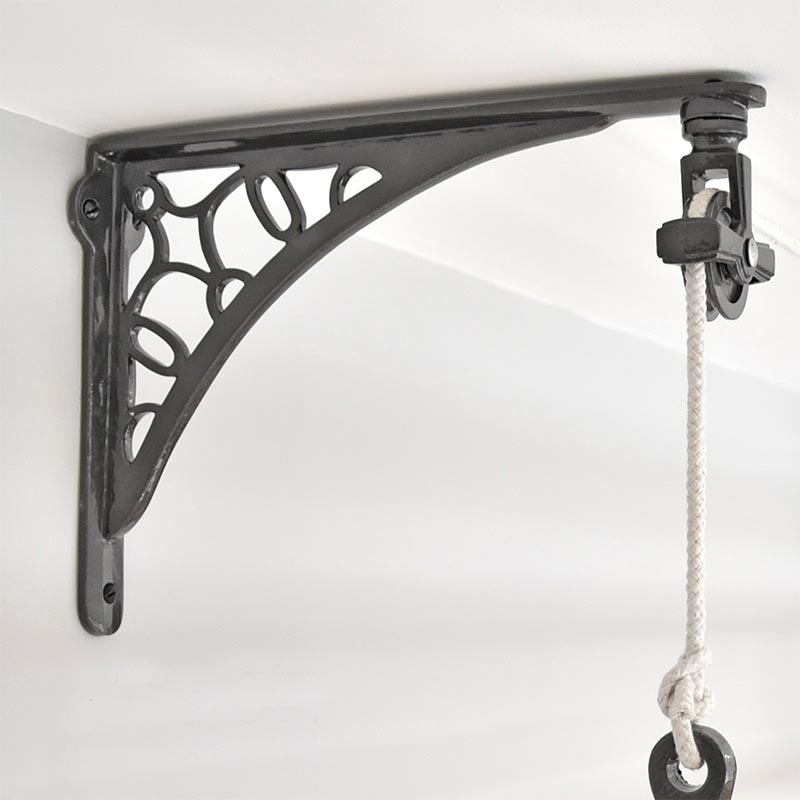 Other Architectural Antiques Antique Vintage Cast Iron Single Pulley Wheel Airer Lighting Black Rusty Consumers First