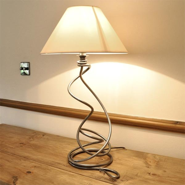 Hand Forged Table Lamp  Complete with Shade