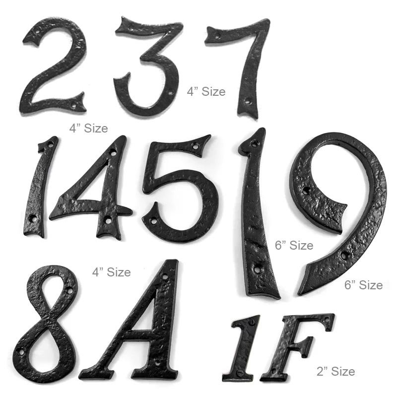 Kirkpatrick Black Cast Iron Classic House Letters House Numbers 1980