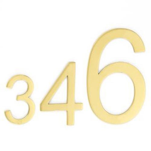 Croft House Numbers Aerial Font Pin Fix 6420PF Brass Nickel Chrome