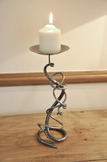 Wrought Iron Candle Holder Blacksmith Candle Holder