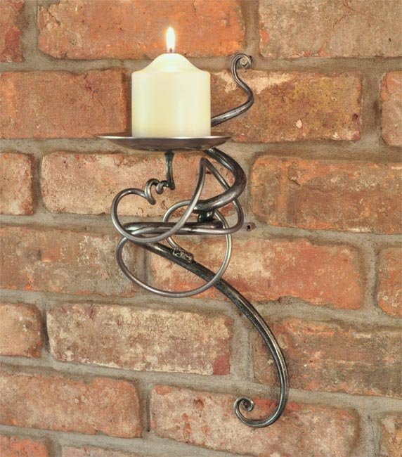 Hand Forged Single Tangle Wall Sconce