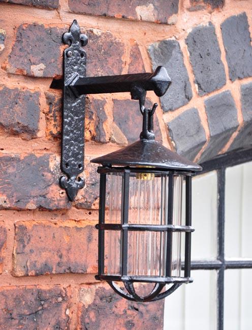 Kirkpatrick 403W Hanging Lantern with Wall Bracket