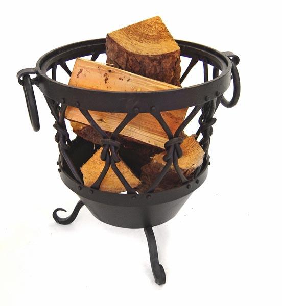 Rustic Log Basket