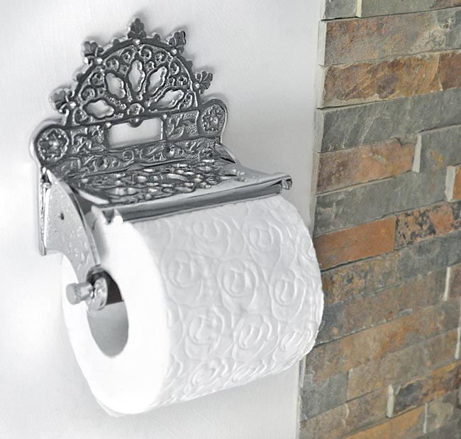Chrome victorian toilet roll holder all products in here for Victorian style bathroom accessories