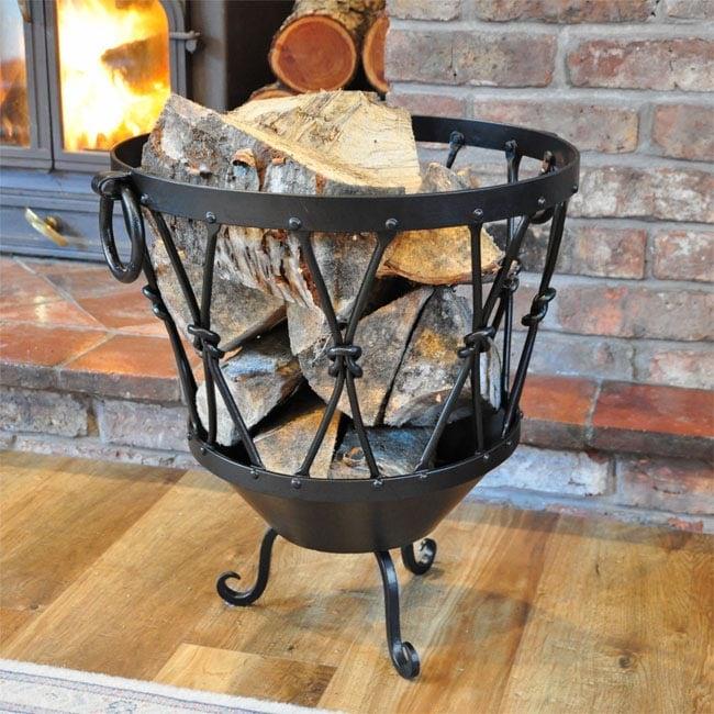 Large Rustic Log Basket