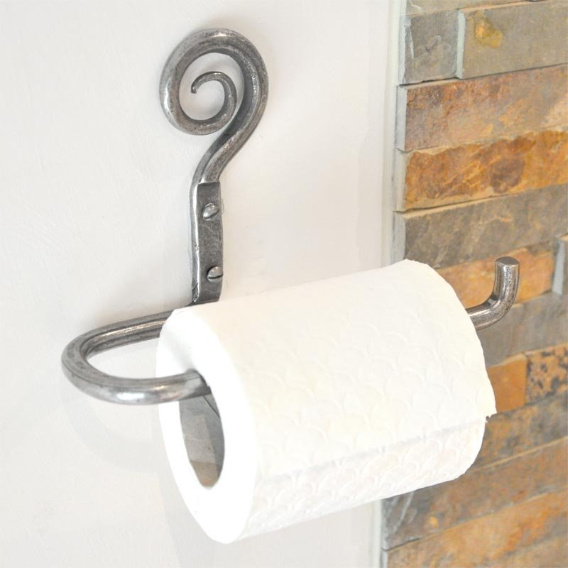 hand forged toilet roll holder