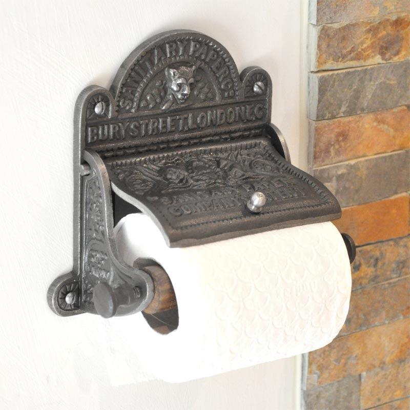 Sanitary Paper Co Toilet Roll Holder Iron Finish All