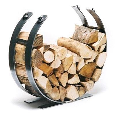 Wrought Iron Log Basket Blacksmith Log Basket