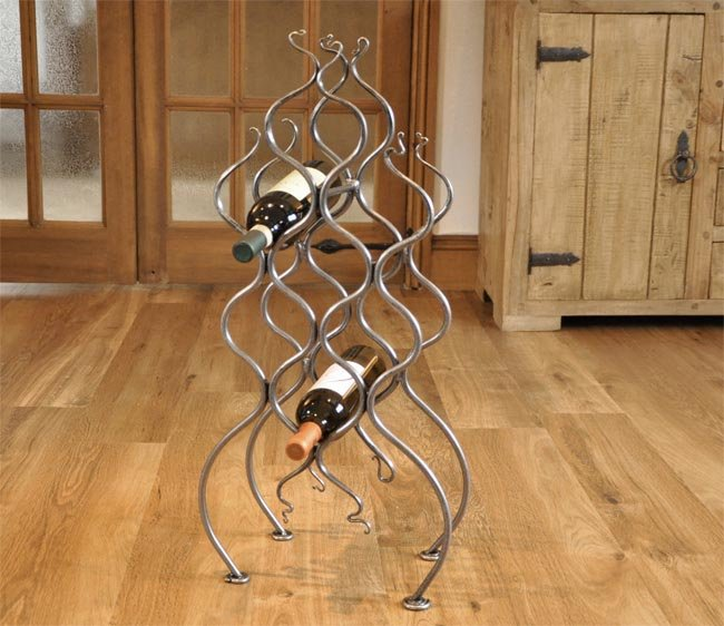 Wrought Iron Wine Rack Hand Made Blacksmith Wine Rack Belltrees