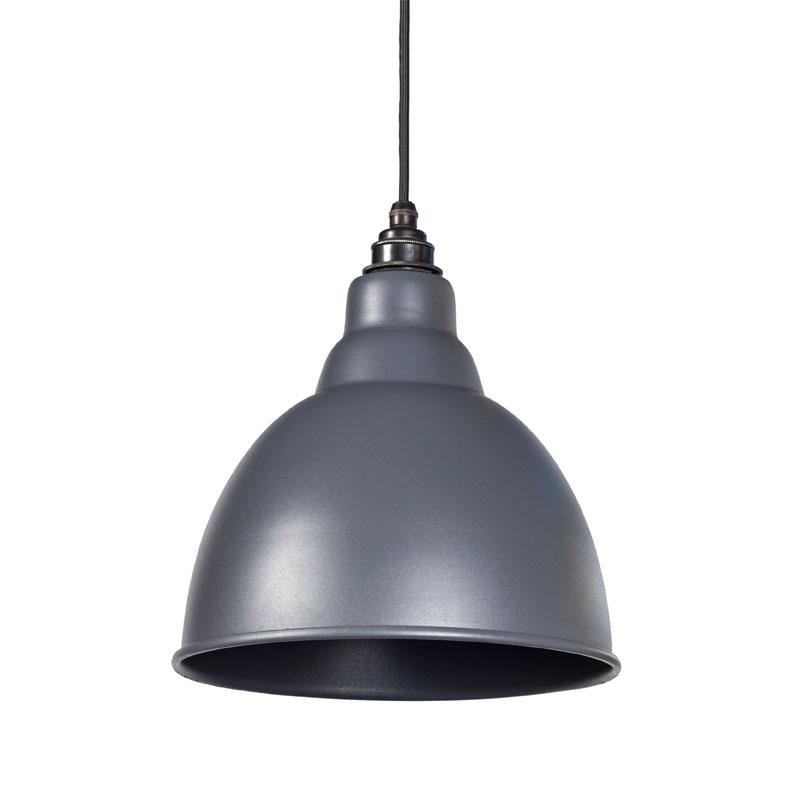 Brindley Pendant - Dark Grey Exterior and Interior