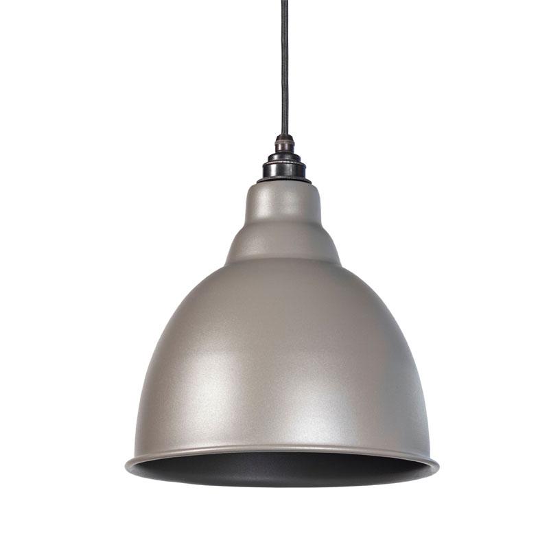 Brindley Pendant - Warm Grey Exterior and Interior