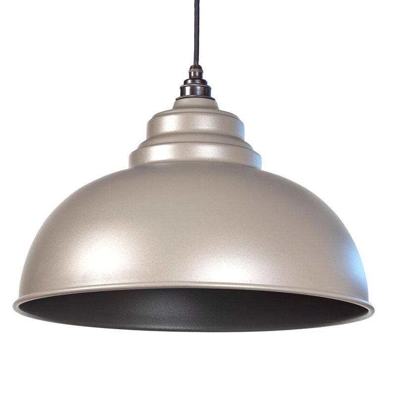 Harborne Pendant - Warm Grey Exterior and Interior