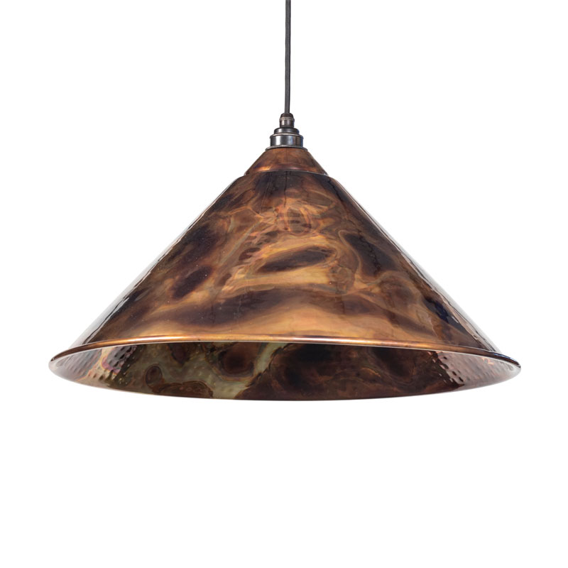Hockley Pendant - Burnished Exterior and Interior