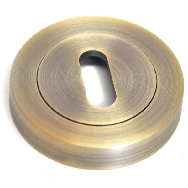 Round Escutcheon - Matt Antique Brass Finish