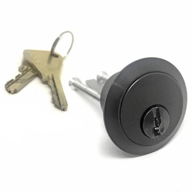 Kirkpatrick Black Cast Iron Front Door Rim Cylinder Lock 5143