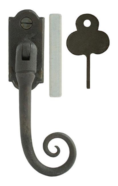 Blacksmith Beeswax Locking Monkeytail Casement Fastener