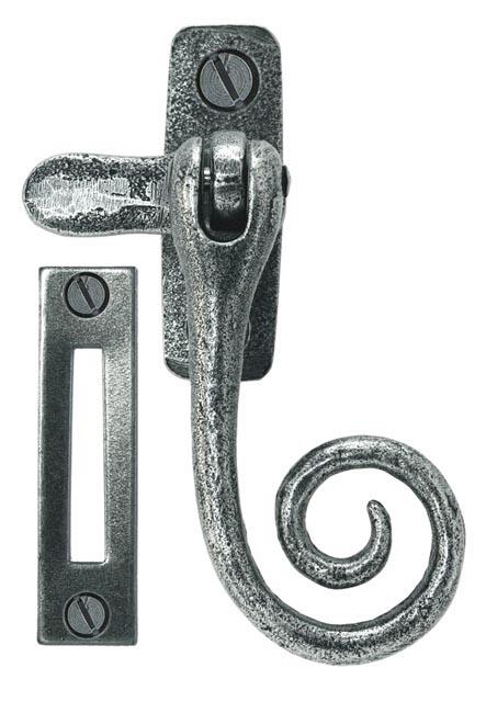 Blacksmith Pewter Patina Monkeytail Casement Fastener
