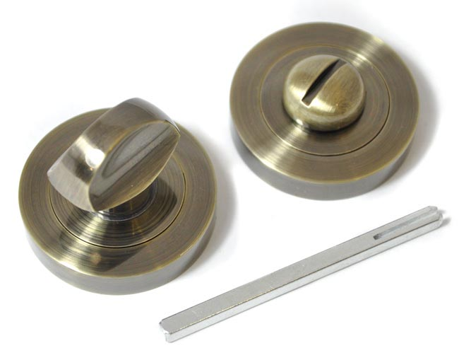 bathroom-door-turn-knob-antique-brass-finish