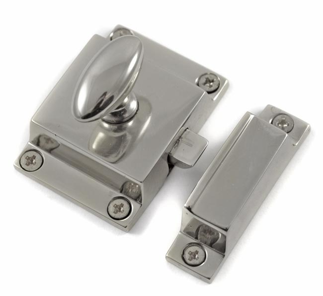 Chrome Cabinet Latch Cast Iron Door Bolts | Bolts and Catches ...
