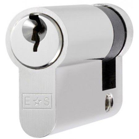 Single Euro Cylinder Lock Keyed to Differ - Satin Chrome