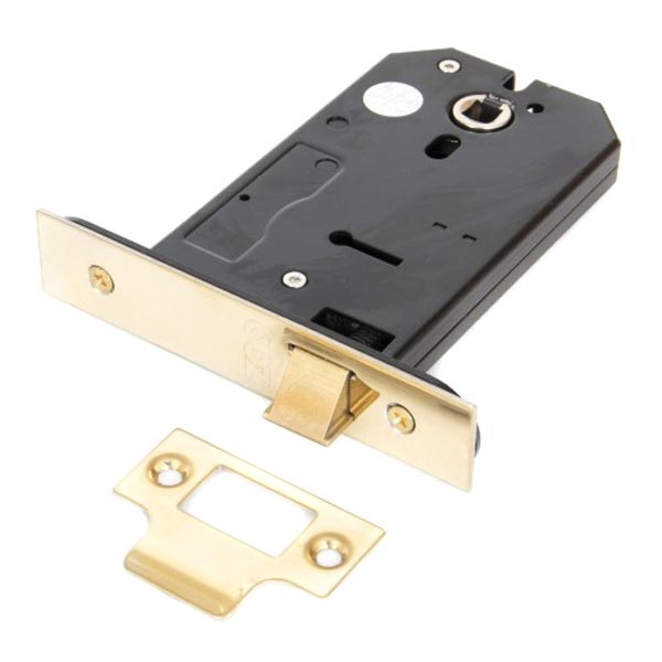 Image of 3 Lever Horizontal Sash Lock - Brass Finish