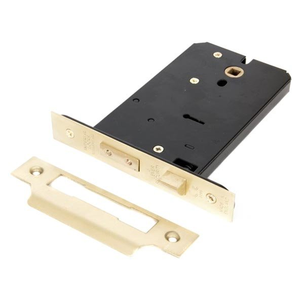 Stockists of 5 Lever Horizontal Sash Lock - Brass Finish