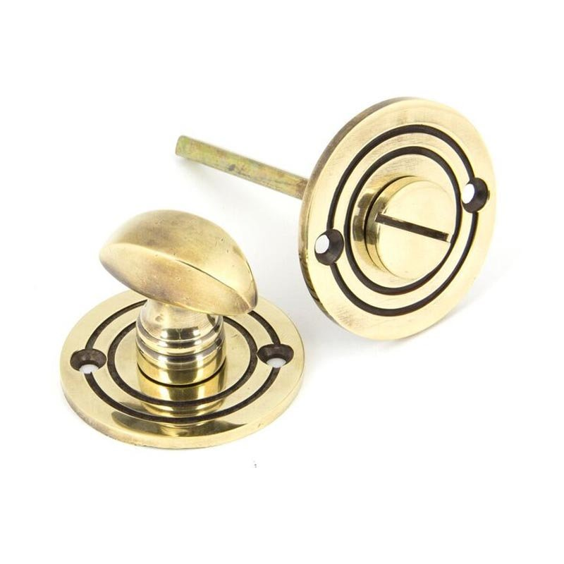 Stockists of Aged Brass Round Bathroom Thumbturn