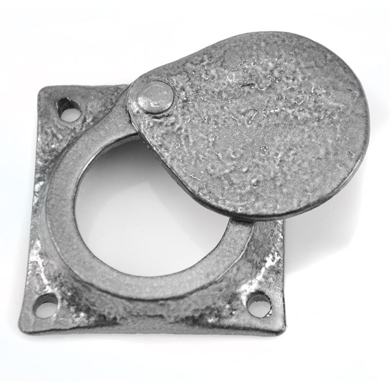 Kirkpatrick 1498 Normandy Swing Cylinder Latch Cover - Pewter Finish