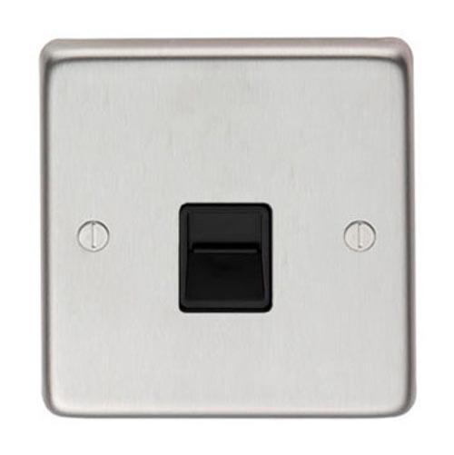 Satin Stainless Steel BT Slave/BT Master Telephone Socket