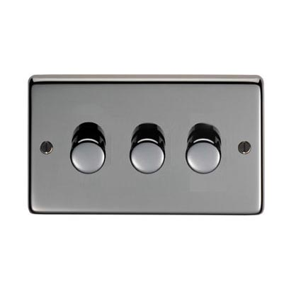 Black Nickel Triple Dimmer Switch - 400w
