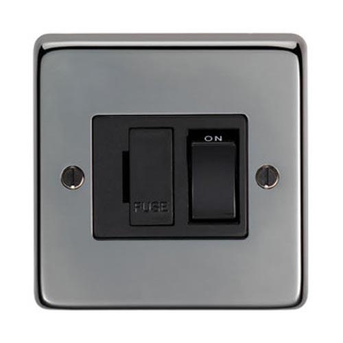 Black Nickel Fused Switch - 13 Amp