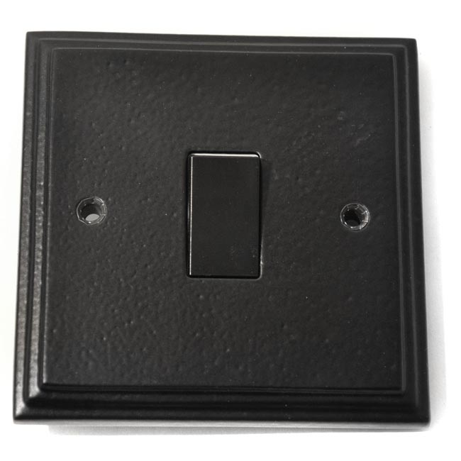 Black Single Light Switch