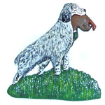 English Setter and Pheasant