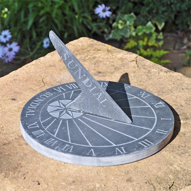 Slate Sundial Brass Sundials