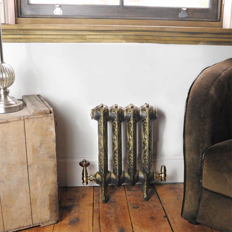 Small Rococo Classic Cast Iron Radiator