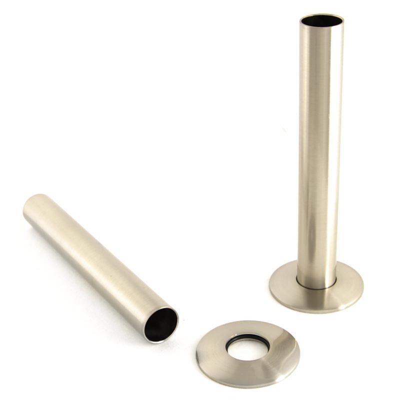 Radiator Pipe Sleeve Cover - Satin Nickel